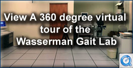 View a 360 degree virtual tour of the Wasserman Gait Lab.
